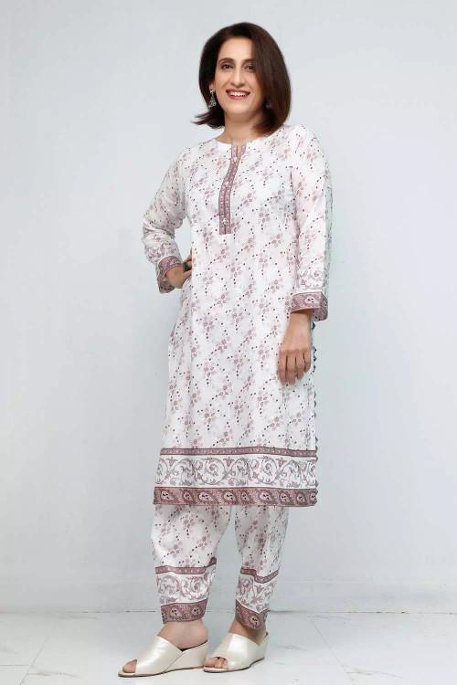 Gul Ahmed 1 Piece Custom Stitched Shirt - White - LB16566