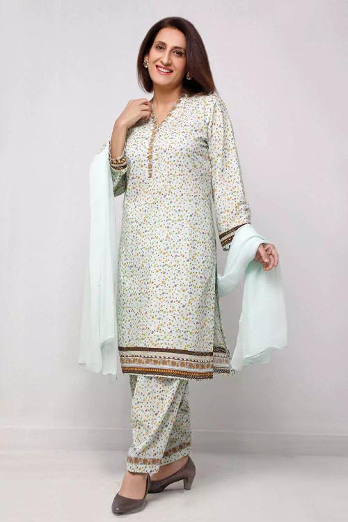 Gul Ahmed 1 Piece Custom Stitched Shirt - Green - LB16568