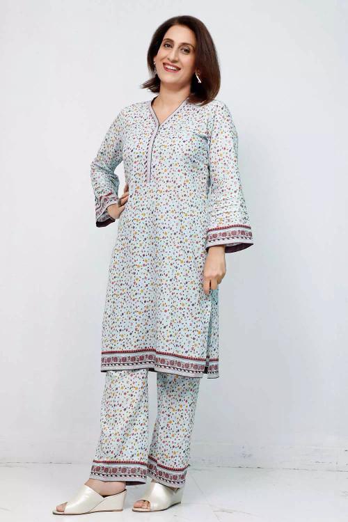 Gul Ahmed 1 Piece Custom Stitched Shirt - Blue - LB16569