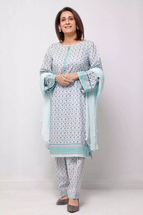 Gul Ahmed 1 Piece Custom Stitched Shirt - Blue - LB16570