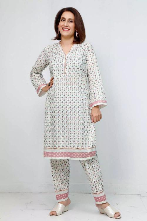 Gul Ahmed 1 Piece Custom Stitched Shirt - White - LB16571