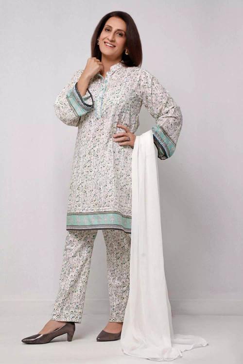 Gul Ahmed 1 Piece Custom Stitched Shirt - White - LB16572