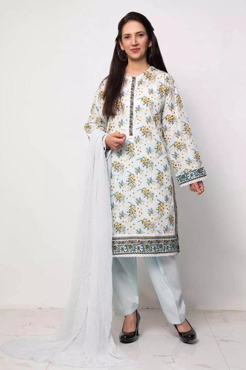Gul Ahmed 1 Piece Custom Stitched Shirt - Blue - LB16586