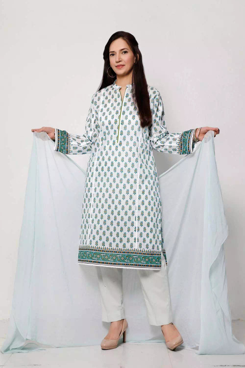 Gul Ahmed 1 Piece Custom Stitched Shirt - Green - LB16587