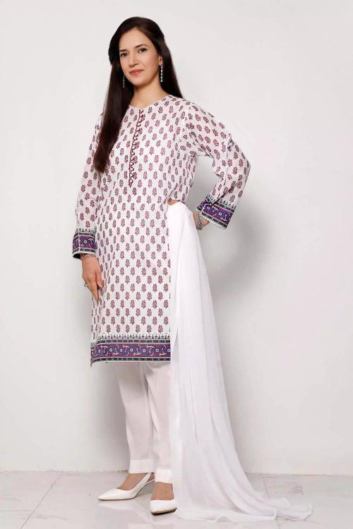 Gul Ahmed 1 Piece Custom Stitched Shirt - Purple - LB16588