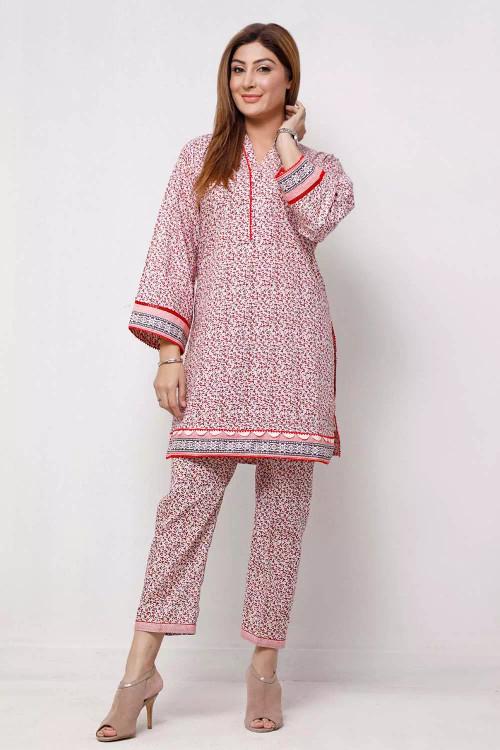 Gul Ahmed 1 Piece Custom Stitched Shirt - Pink - LB16597