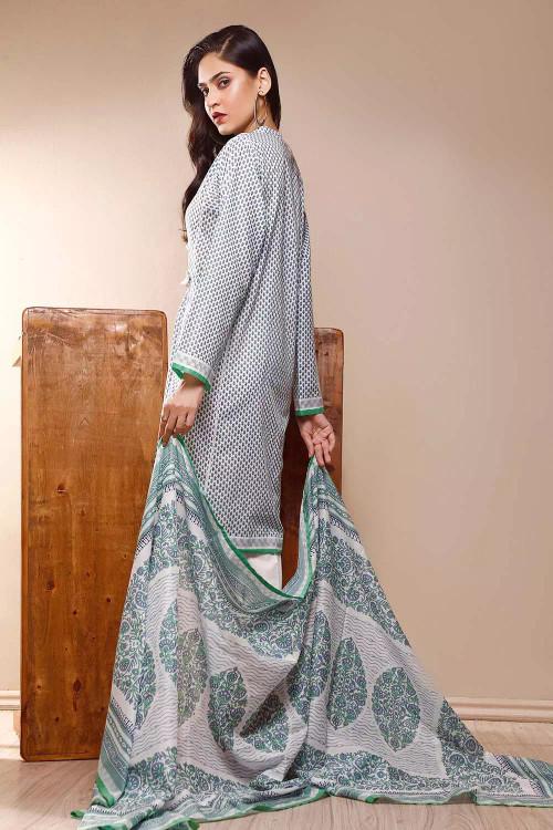 Gul Ahmed 3 Piece Custom Stitched Suit - Grey - LB16598