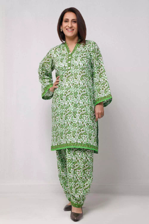 Gul Ahmed 1 Piece Custom Stitched Shirt - Green - LB16617
