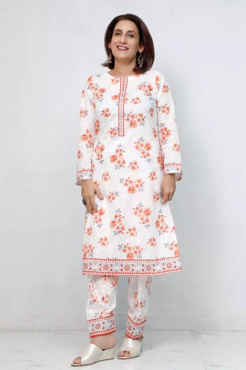 Gul Ahmed 1 Piece Custom Stitched Shirt - White - LB16619