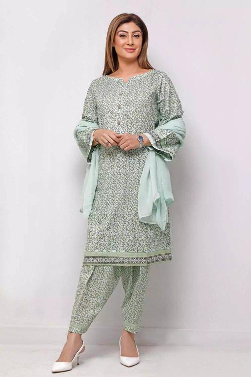 Gul Ahmed 1 Piece Custom Stitched Shirt - Green - LB16621