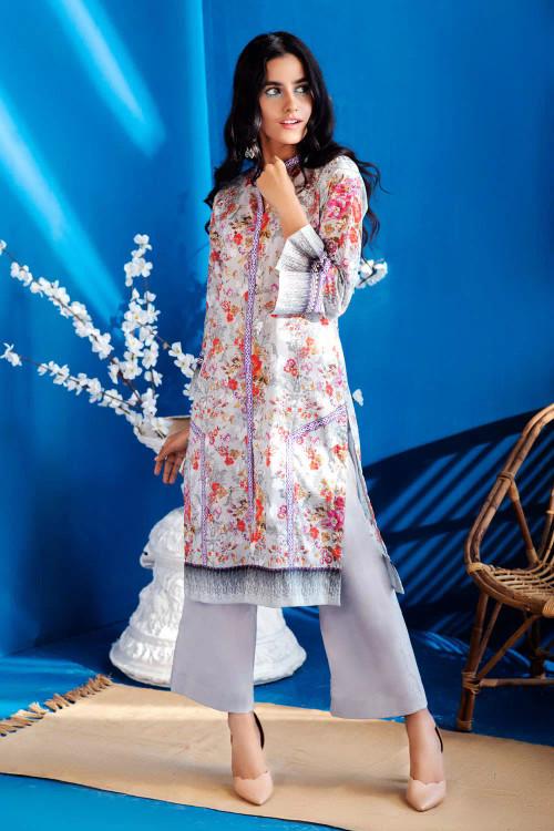 Gul Ahmed 1 Piece Custom Stitched Shirt - Off-White - LB16640