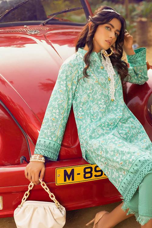 Gul Ahmed 1 Piece Custom Stitched Shirt - Green - LB16652