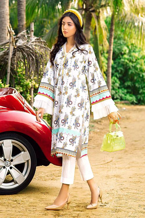 Gul Ahmed 1 Piece Custom Stitched Shirt - White - LB16656