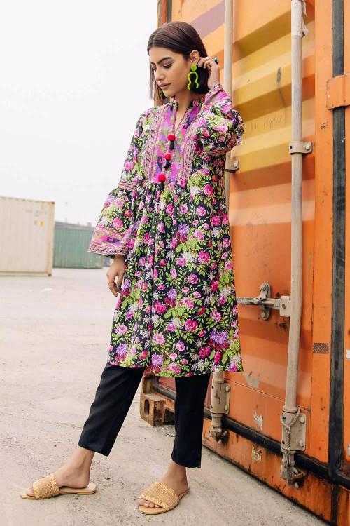Gul Ahmed 1 Piece Custom Stitched Shirt - Black - LB16662