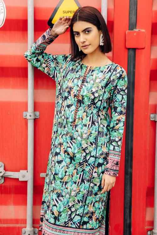 Gul Ahmed 1 Piece Custom Stitched Shirt - Green - LB16670