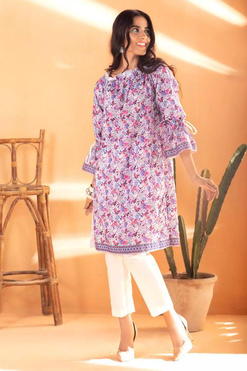 Gul Ahmed 1 Piece Custom Stitched Shirt - Purple - LB16676