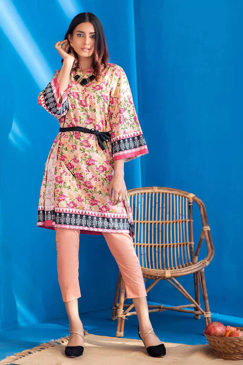 Gul Ahmed 1 Piece Custom Stitched Shirt - Pink - LB16682