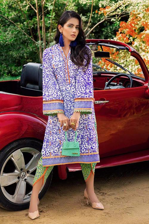 Gul Ahmed 2 Piece Custom Stitched Suit - Blue - LB16683