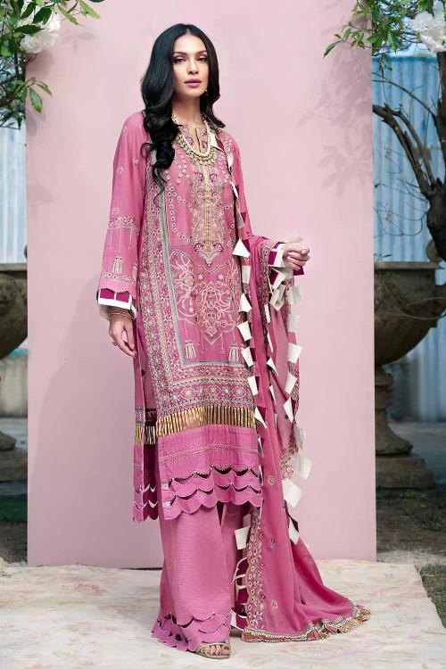 Gul Ahmed 3 Piece Custom Stitched Suit - Purple - LB16708