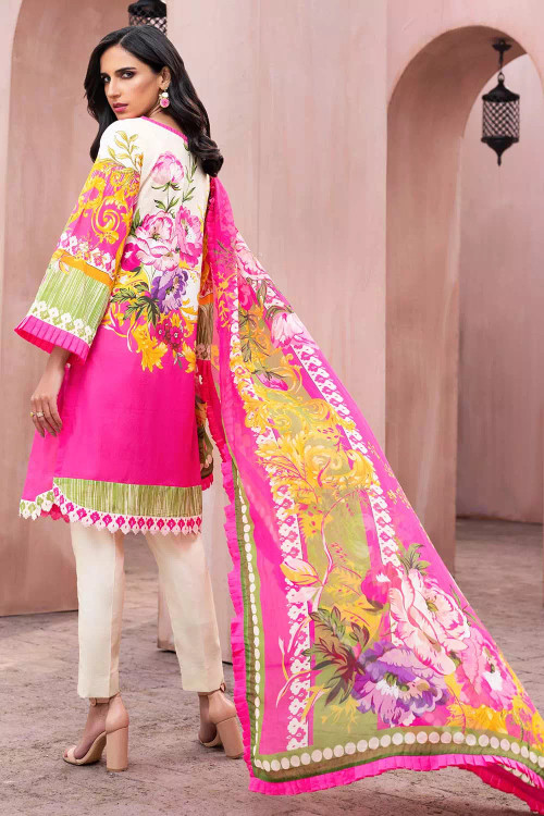 Gul Ahmed 3 Piece Custom Stitched Suit - Pink - LB16711