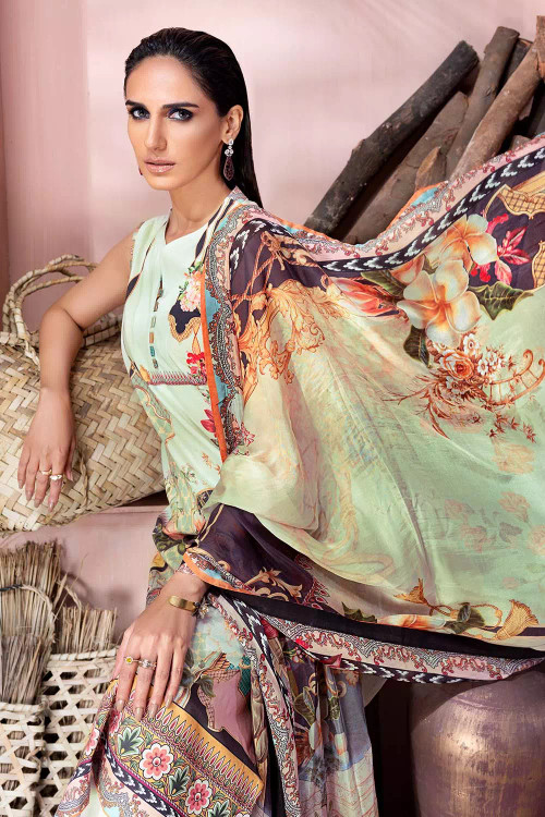 Gul Ahmed 3 Piece Custom Stitched Suit - Off-White - LB16715
