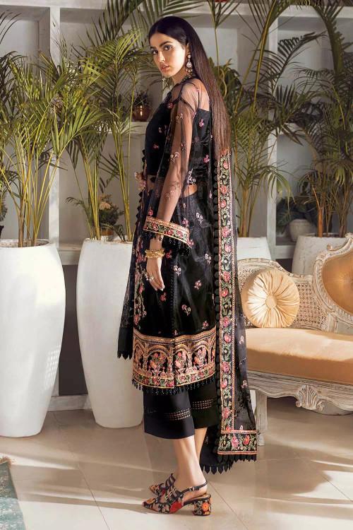 Gul Ahmed 3 Piece Custom Stitched Suit - Black - LB16724