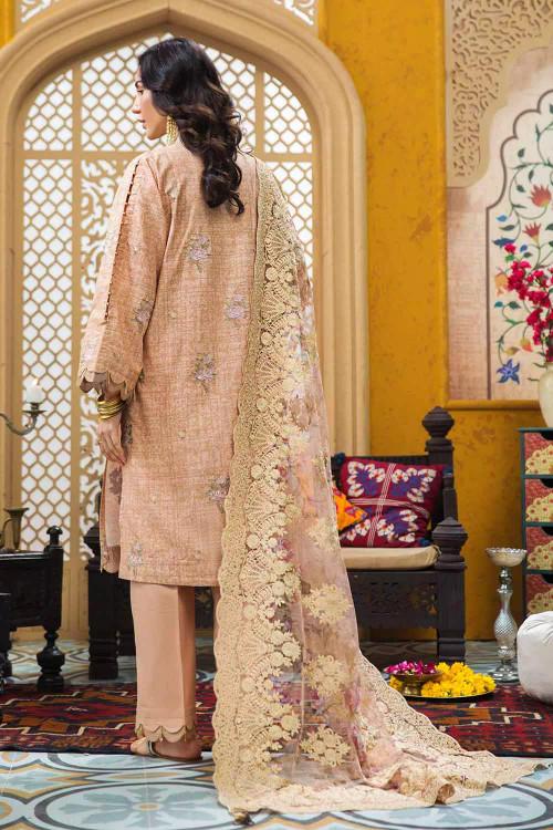 Gul Ahmed 3 Piece Custom Stitched Suit - Beige - LB16729