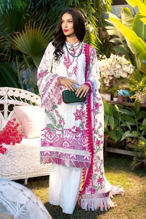 Gul Ahmed 3 Piece Custom Stitched Suit - Purple - LB16735