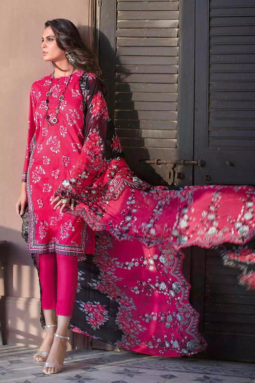 Gul Ahmed 3 Piece Custom Stitched Suit - Purple - LB16739