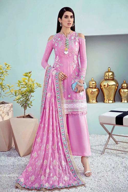 Gul Ahmed 3 Piece Custom Stitched Suit - Purple - LB16749