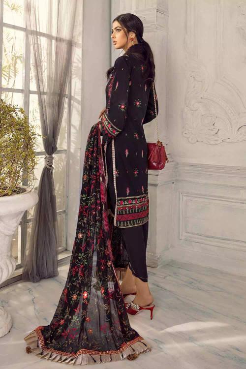 Gul Ahmed 3 Piece Custom Stitched Suit - Black - LB16751