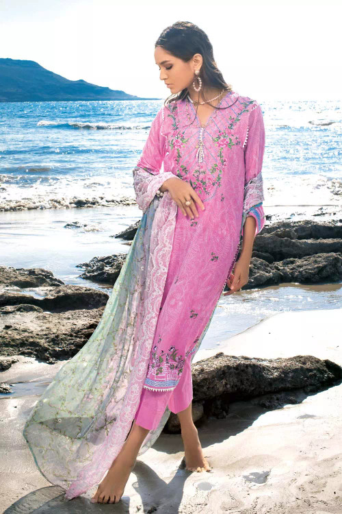 Gul Ahmed 3 Piece Custom Stitched Suit - Purple - LB16762