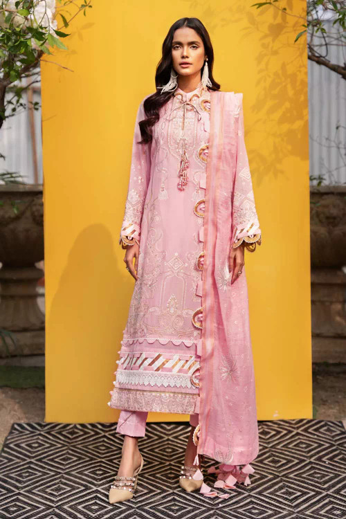 Gul Ahmed 3 Piece Custom Stitched Suit - Pink - LB16773