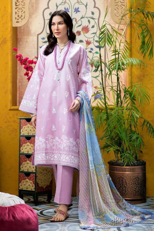 Gul Ahmed 3 Piece Custom Stitched Suit - Purple - LB16777
