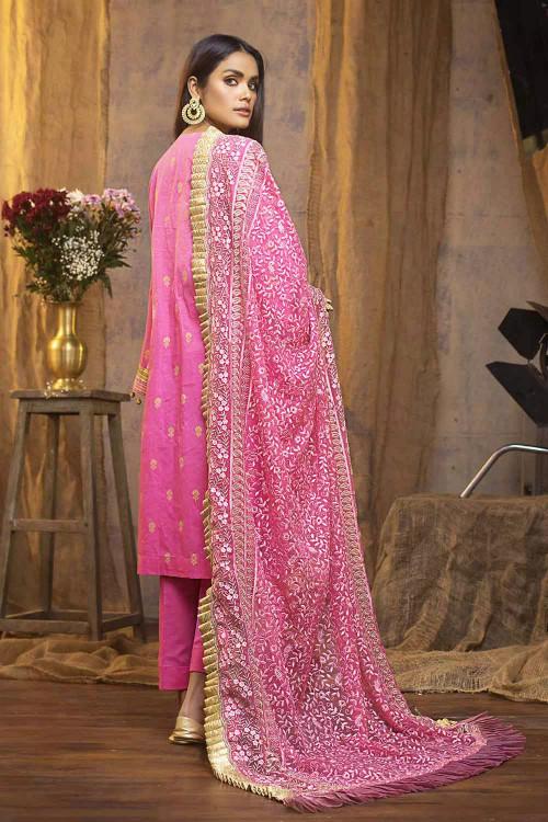 Gul Ahmed 3 Piece Custom Stitched Suit - Purple - LB16779
