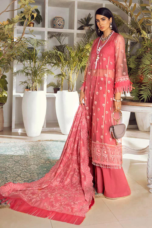 Gul Ahmed 3 Piece Custom Stitched Suit - Pink - LB16783