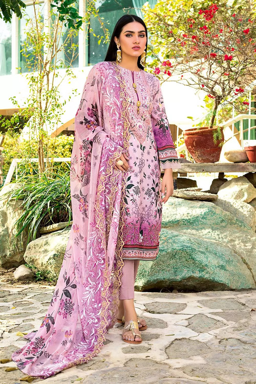 Gul Ahmed 3 Piece Custom Stitched Suit - Purple - LB16793