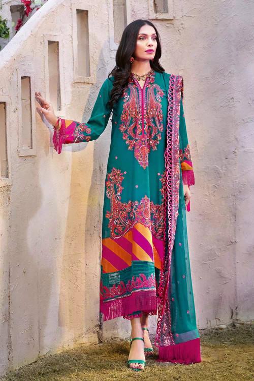 Gul Ahmed 3 Piece Custom Stitched Suit - Blue - LB16799