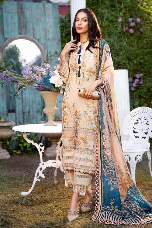 Gul Ahmed 3 Piece Custom Stitched Suit - Beige - LB16822