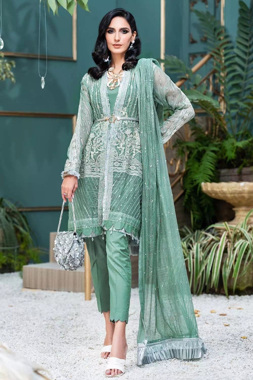 Gul Ahmed 3 Piece Custom Stitched Suit - Green - LB16847