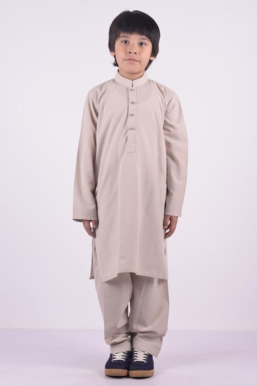 Ready to Wear Kurta Shalwar For Boys - White - LB1590