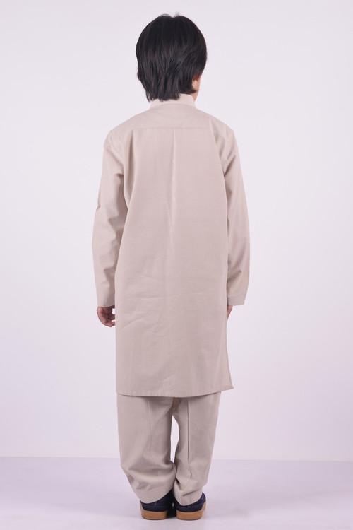 Ready to Wear Kurta Shalwar For Boys Cream Color - LC-BKSB17204-Cream