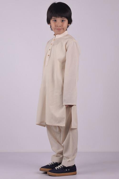 Ready to Wear Kurta Shalwar For Boys - Brown - LB1591