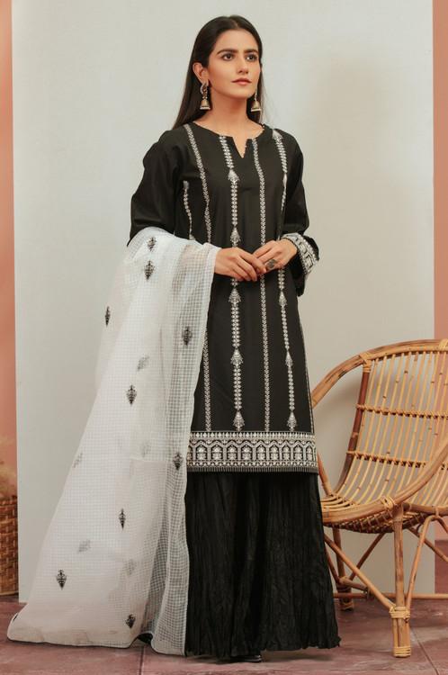 Zeen 3 Piece Custom Stitched Suit - Black - LB16926