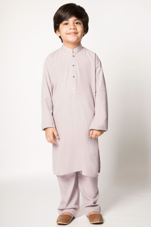 Ready to Wear Kurta Pajama For Boys Mauve Color - LC-BKPB17502-Mauve