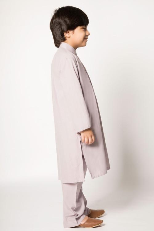 Ready to Wear Kurta Pajama For Boys - Mauve - LB1596