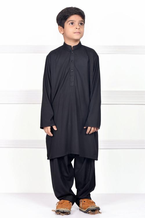 Ready to Wear Kurta Pajama For Boys - Black - LB1600