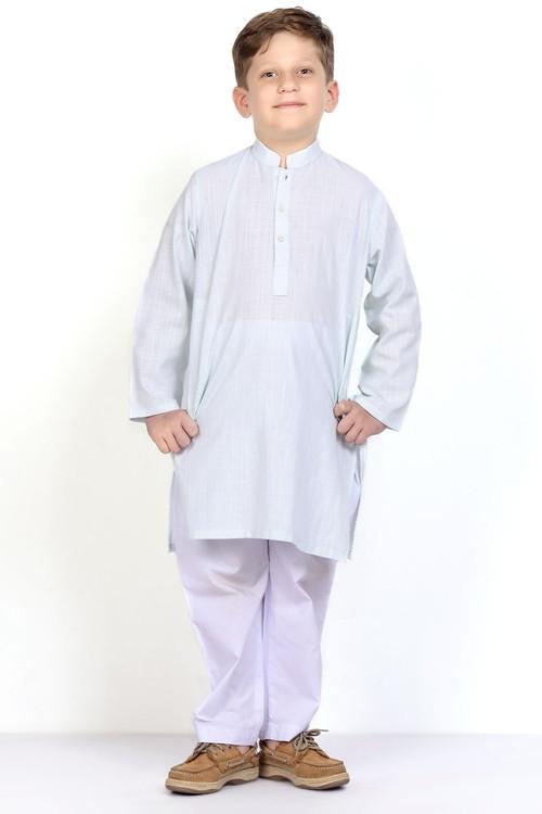 Ready to Wear Kurta For Boys - Blue - LB1606