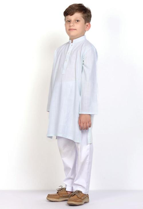Ready to Wear Kurta For Boys Blue Color - LC-BKB17505-Blue