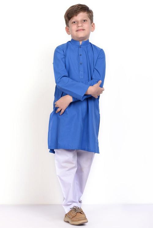 Ready to Wear Kurta For Boys - Blue - LB1607